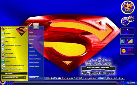 Themes For Windows 7 Superman | superman windows 7 theme by pauliewog260 on deviantart