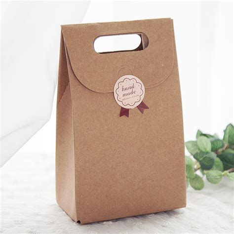 Handmade Gift Packing - 100pcs free shipping kraft paper diy wedding gift