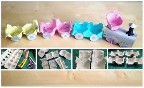 ls made from recycled materials joguines amb material reciclat tren diy toys with