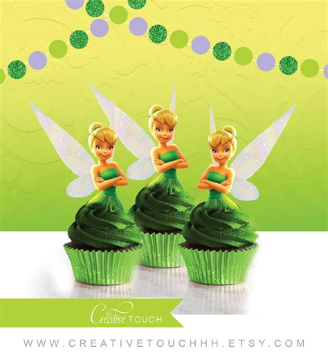free printable tinkerbell party decorations tinker bell cupcake toppers tinkerbell cupcake toppers