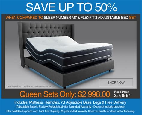 sleep number bed financing adjustable beds on sale closeout pricing free shipping