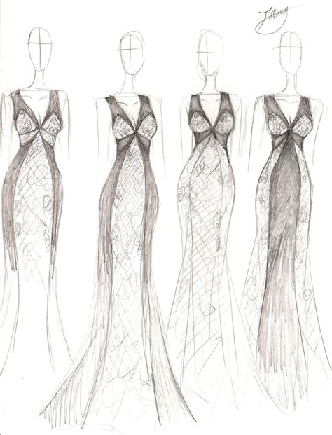 design art fashion storm stephanie d couture spring 2014 concept sketch by ember