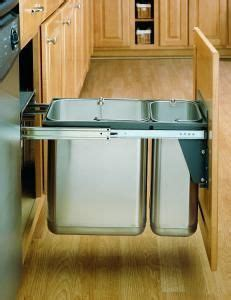 Sink Trash Can Door Mount by 30 Liter Ss Pull Out Trash Can Door Mount Pull Out