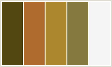 copper color combinations colorcombo391 with hex colors 524711 af6b2e ac872e