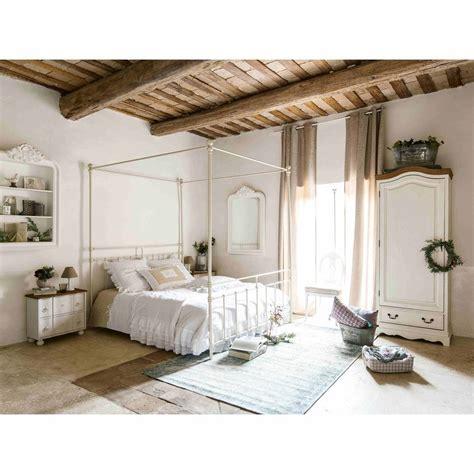 letto baldacchino maison du monde letto bianco a baldacchino 160 x 200 in metallo syracuse