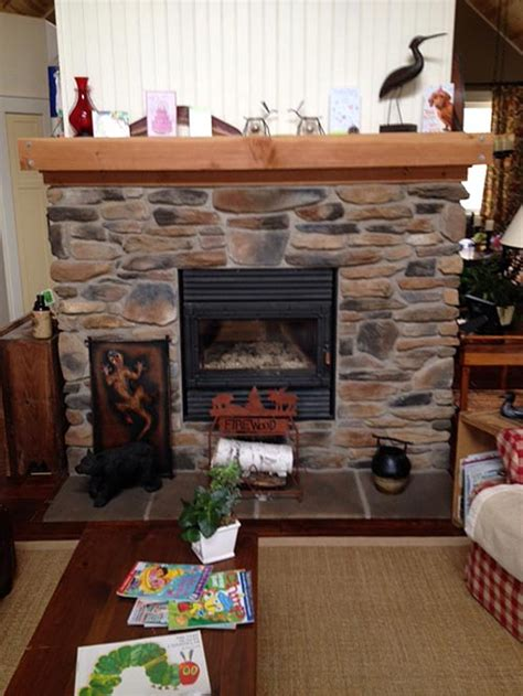 rsf oracle see thru wood burning fireplace with cultured