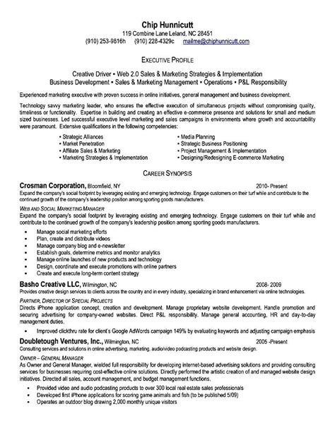 executive level resume template executive level resume free sles exles format