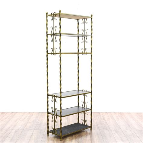 etagere 2 stöckig holz large brass glass etagere bookcase display shelf