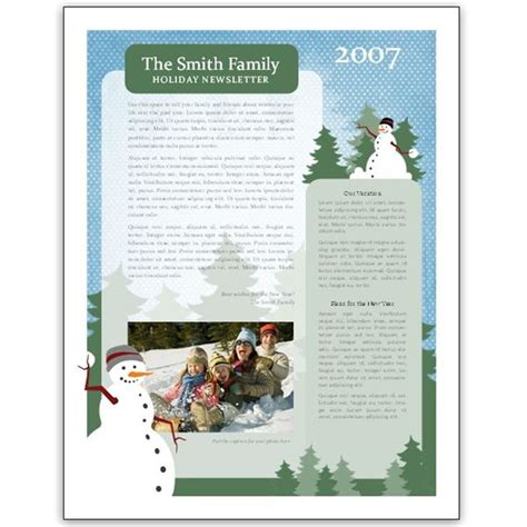 Microsoft Word Templates Place Holder Cards Winter by 8 Great Microsoft Publisher Newsletter Templates