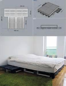 Diy Wood Platform Bed Frame by 15 Unique Diy Wooden Pallet Bed Ideas Diy And Crafts