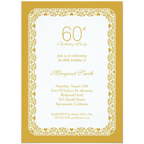 60th wedding anniversary card templates free 20 ideas 60th birthday invitations card templates