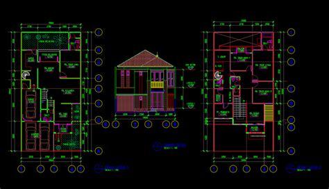 gambar rumah tinggal xm format dwg file