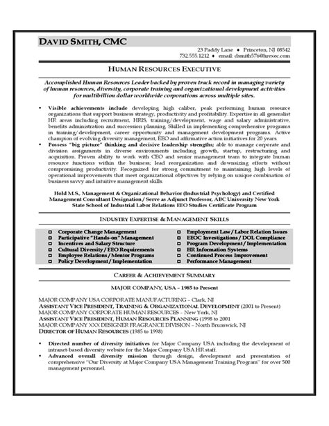 Sle Resume Of Professional hr professional resume sle 28 images human resource