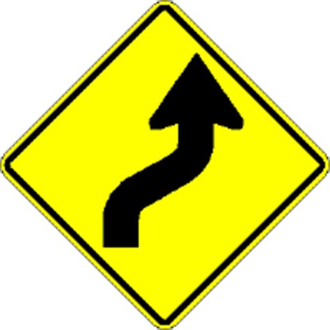 st on left or right warning the traffic sign store