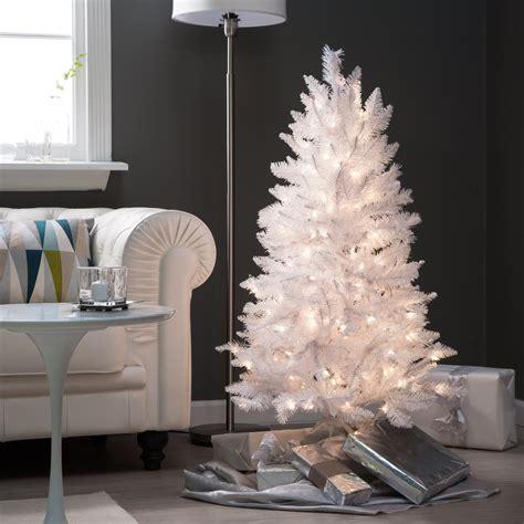 ft white tiffany tinsel christmas tree christmas