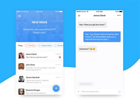 remote layout design jobs message team app ui free sketch 2 by yann dribbble