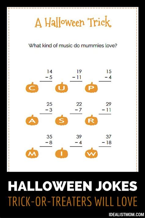 printable math jokes surprise trick or treaters with these halloween jokes