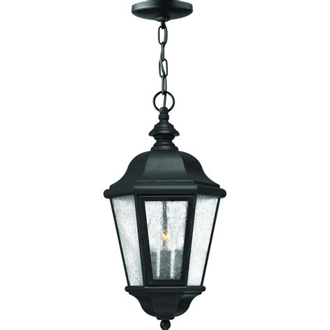 Patio Hanging Lights Hinkley Lighting Edgewater Three Light 19 Inch Outdoor Hanging Lantern Black 1672bk