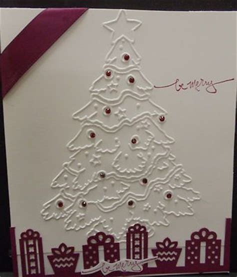 brand new christmas tree style traditional embossing