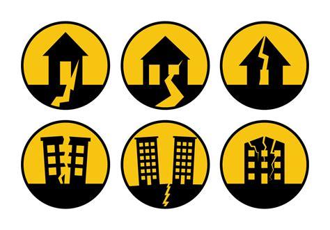 earthquake signs earthquake sign vector download free vector art stock
