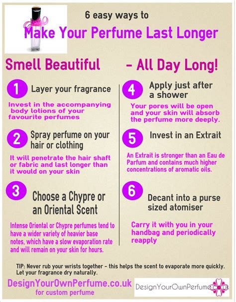 Does An Mba Make It Easier To Find Work by 6 Easy Ways To Make Your Perfume Last Longer Infographic