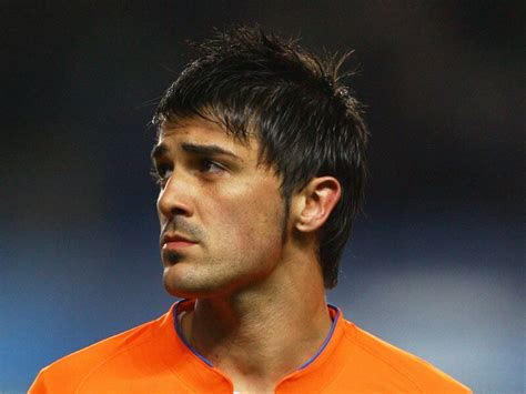 David Villa Hairstyle by 3 Soccer Players With Great Hairstyles