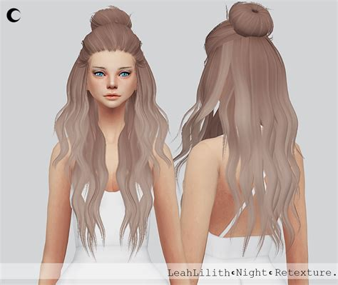the sims 4 hair cc my sims 4 blog night hair retexture for females by kalewaa