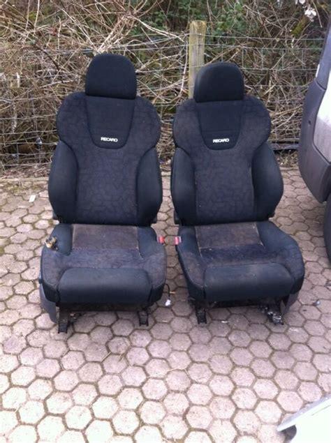 genuine mitsubishi pajero evo front recaro seats