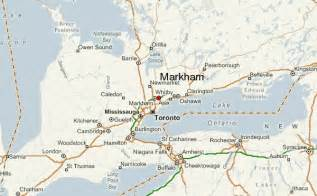 markham canada map markham location guide