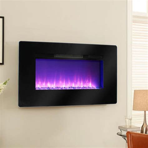 Wall Mounted Electric Fireplace Pleasant Hearth Electric Wall Mount Fireplace Mch57bl