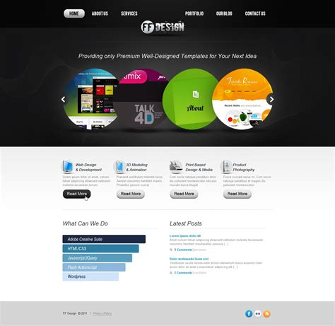 templates flash web design flash template 36693