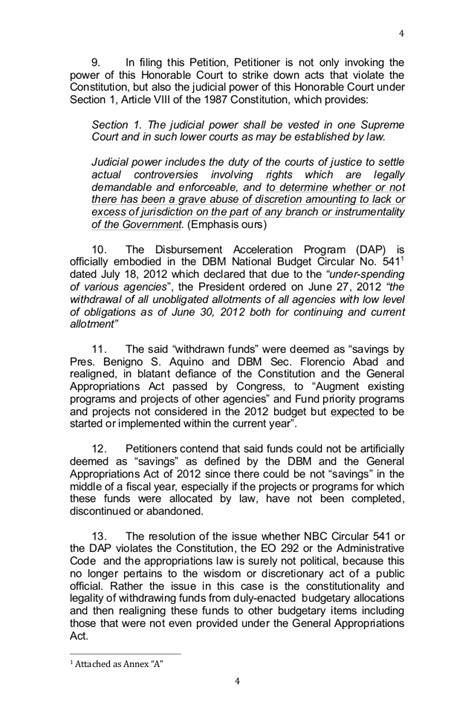 Sle Petition Certiorari Rule 65 araullo v aquino dap petition