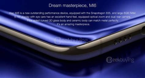Xiaomi Mi 6 Ram 6 128gb Blue xiaomi mi 6 5 15 inch 6gb 128gb smartphone blue