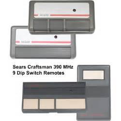 Sears Garage Door Opener Remote Doesn T Work Sears Craftsman