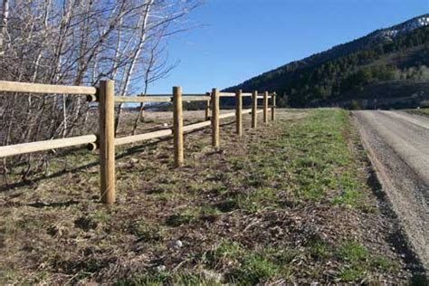 wood frontier fence