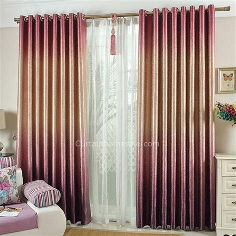 thermal bedroom curtains fantasy gradient gold and red polyester thick thermal