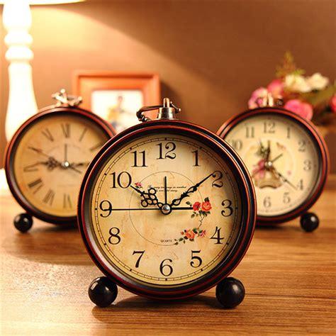 home decor clocks vintage aralm clock table desk wall clock retro rural