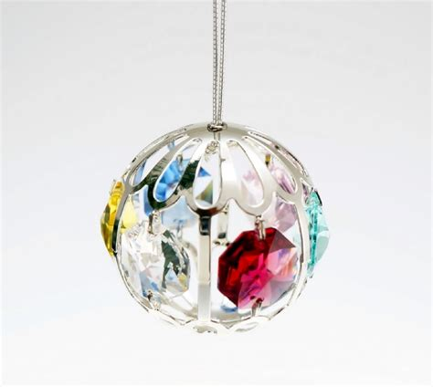 silver plated with austrian crystal christmas ornaments