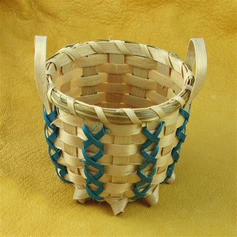 American Handmade Crafts - handmade indian basket 2 mesa farm american