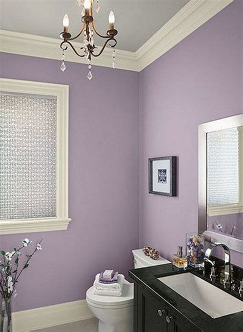 purple color in bathroom one decor