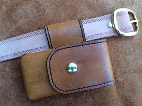 Handmade Leather Cell Phone Holsters - cell phone leather drop belt loop fits iphone