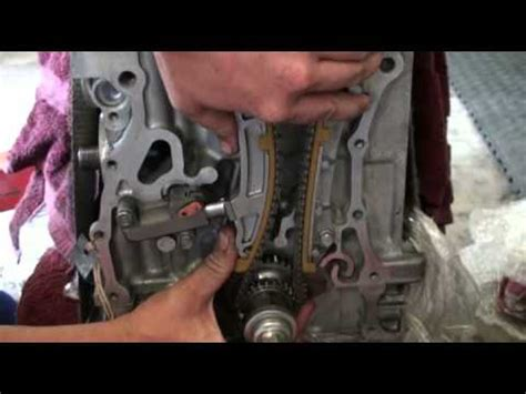 timing chain tensioner installation for k24 youtube