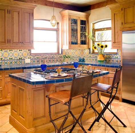 Blue Kitchen Jackson Jackson Tile Kitchen Mediterranean With Floors Traditional