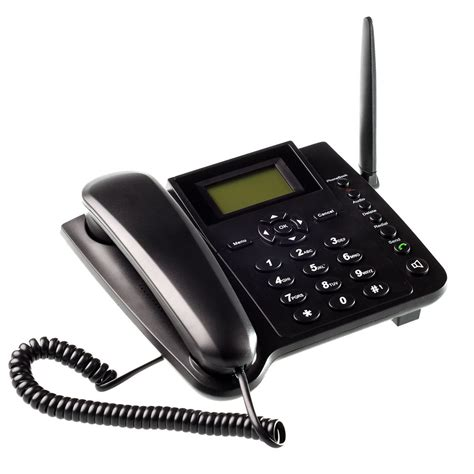 wireless gsm desk phone quadband sim card sms function