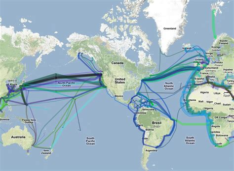 undersea cable map undersea cable map the big picture