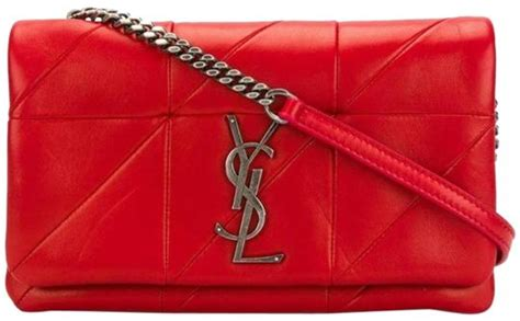 saint laurent chain wallet jamie ysl patchwork monogramme