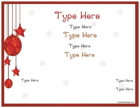 holiday gift certificate template free printable 1000 ideas about gift certificate templates on