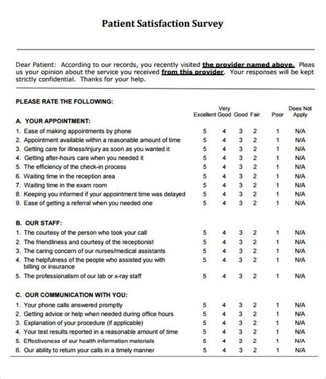 sle patient satisfaction survey 9 documents in pdf word
