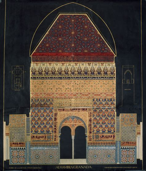 plans elevations sections and details of the alhambra drawings of islamic buildings victoria and albert museum