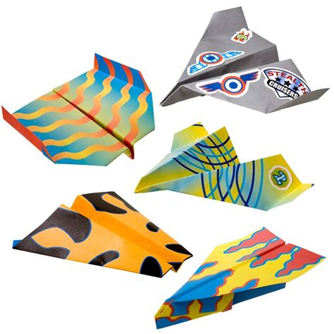 Fold And Fly Paper Planes - fold n fly paper airplanes craft kit educational toys planet